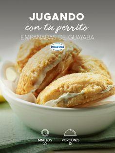 En las horas de juego junto a tu mejor compañero no puede faltar un rico antojo como estas Empanadas de guayaba.   #recetas #receta #quesophiladelphia #philadelphia #crema #quesocrema #queso #empanadas #guayaba #antojo #fruta #empanada #postre