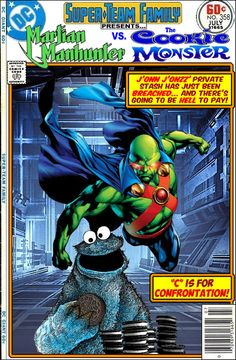 Super-Team Family: The Lost Issues!: Martian Manhunter Vs. The Cookie Monster