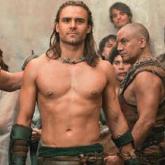 Picture: John Hannah and Dustin Clare in 'Spartacus: Gods of the Arena.' Pic is in a photo gallery for Dustin Clare featuring 24 pictures. Gannicus Spartacus, Spartacus Tv Series, Dustin Clare, Spartacus Blood And Sand, Gods Of The Arena, John Hannah, Love My Man, Favorite Tv Shows, Costumes