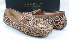 Women's LAUREN Ralph Lauren CARLEY II Loafer Drive Moccasin  Leopard Size 6.5 #LaurenRalphLauren #LoafersMoccasins #Casual