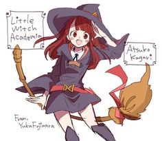#LittleWitchAcademia Atsuko Kagari #Dessin #YukaFujiwara #Manga #Anime