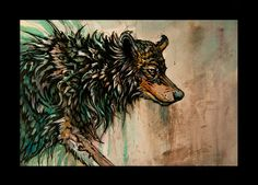 wolf - traditional painting