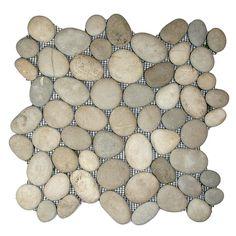Pebble Tile - Great idea for small spaces (like bathroom backsplash)