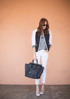 How to Wear White Jeans in the Fall   StyleCaster