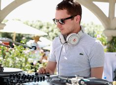 Elijah Wood with Lacoste Home at Coachella   Rue