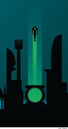 Green Lantern /// by Adam Thompson