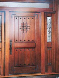 Maindoor Corporation Rustic Finish W/ Speakeasy, Wrought Iron U0026 Clavos