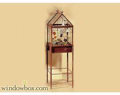 "12"" Freestanding Wardian Terrarium Case - Terrarium Plant Stands - Terrariums - Windowbox.com"