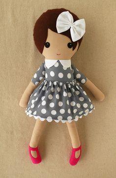 Custom Listing for Leah51 Fabric Doll Rag Doll by rovingovine