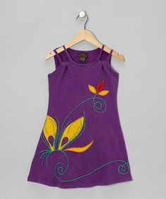 Take a look at this Purple Flower Dress - Girls by Rising International on #zulily today!