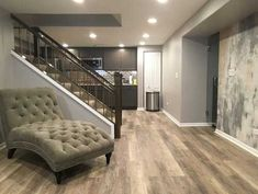 Why Vinyl Planks Are The Best Flooring For Basements Basement basement flooring ideas Concrete Basement Floors, Best Flooring For Basement, Basement Walls, Basement Bedrooms, Basement Ideas, Basement Storage, Walkout Basement, Small Basement Bathroom, Basement Layout