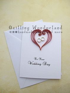 Quilling Wedding Card Paper Quilling - quilling Wonderland