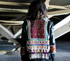 Beautiful #embroidery work on this jacket #inspiration
