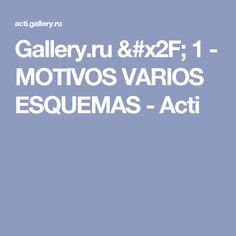 Gallery.ru / 1 - MOTIVOS VARIOS ESQUEMAS - Acti