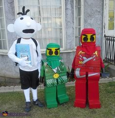 Wimpy Kid & Lego Ninjago - Halloween Costume Contest via @costumeworks