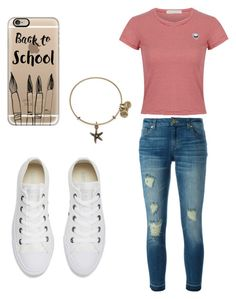 """""""back to school"""" by jordanphilo on Polyvore featuring WithChic, MICHAEL Michael Kors, Converse, Casetify and Alex and Ani"""