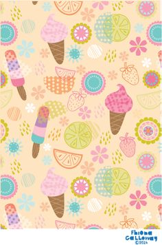 fhiona galloway illustration blog:  summer fun pattern!