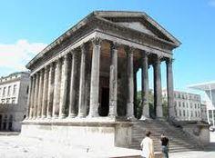 Maison Caree, Roman Temple in Nimes, France.