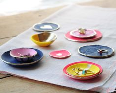polymer clay ring dishes are a perfect diy gift for mother's day! whether you are 8 or 28, this is a fun craft to make! @michaelsstores