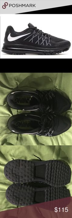 Men's Nike Air Max Excellent Condition Men's Nike Air Max. All black w/white swoosh, stitching at laces! Worn twice Nike Shoes Athletic Shoes