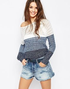 Only Stripe Block Knit Sweater