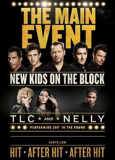 Pop Icons Team Up with TLC and Nelly for the Ultimate Summer Concert Ticket - The Main Event to Kick Off May 1 with Tickets On Sale Jan. 31 at LiveNation.com - New Kids On The Block are stepping in...