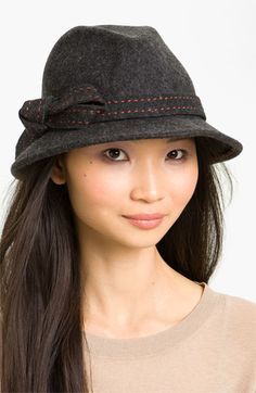 Nordstrom Pickstitch Bow Fedora available at #Nordstrom