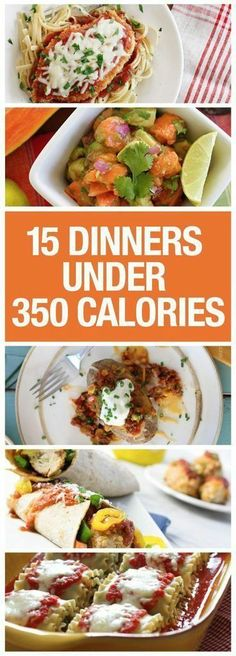 15 Dinners Under 350 Calories