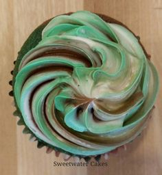 Camouflage Frosting for Army Cupcakes