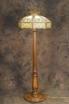 bradley+&+hubbard+lamps   2189: Bradley & Hubbard Slag Glass Lamp ...