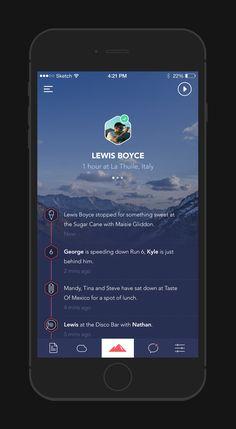 Powder App - Profile by George Gliddon