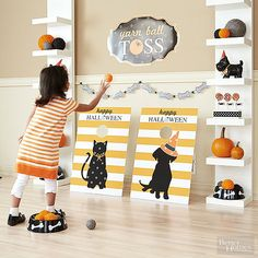Make your kids' Halloween party a blast with these fun and festive games! Monster bingo, yarn ball toss (kittens against puppies), and guess the amount of candy in a jar are all creative and cool games that kids will love. Play these games to prevent your party guests from getting bored!