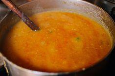 Indian Lentil Soup, by thewoksoflife.com Indian Lentil Soup, Lamb Vindaloo, Vegetarian Chicken, Lunch Buffet, Garlic Naan, Indian Food Recipes, Ethnic Recipes, Vegetable Puree, Garam Masala
