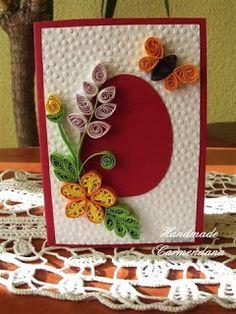 Felicitare quilling (handmade card)