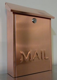 Wall mounted COPPER MAILBOX. via Etsy.