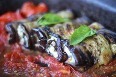 Feta Stuffed Rolled Eggplant \ HOMEGROWN KITCHEN