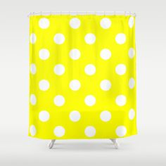Shower curtain yellow shower curtain original by MikitchuCreations