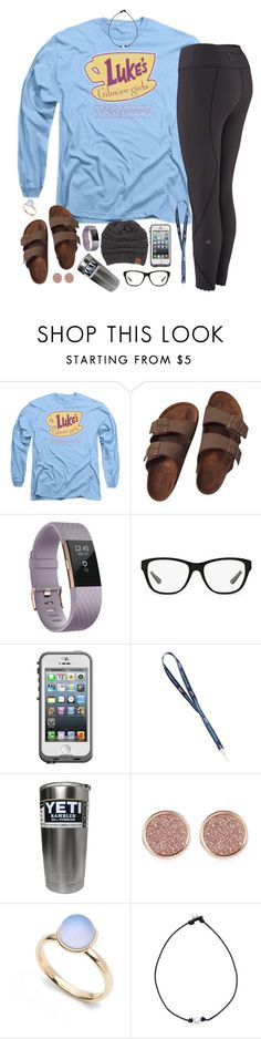 """what's stopping you?"" by kaley-ii ❤ liked on Polyvore featuring Birkenstock, Fitbit, Ralph Lauren, LifeProof, CC, River Island and Alexis Bittar"