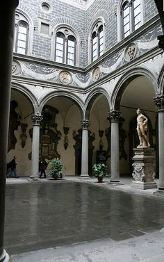 Palazzo Medici Riccardi (1460), courtyard, Florence, Tuscany, Italy