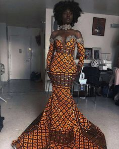 African fashion is available in a wide range of style and design. Whether it is men African fashion or women African fashion, you will notice. African Prom Dresses, African Wedding Dress, African Fashion Dresses, African Fashion Designers, African Inspired Fashion, African Print Fashion, Africa Fashion, African Attire, African Wear
