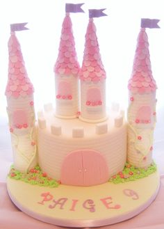 My 1St Princess Castle Cake!