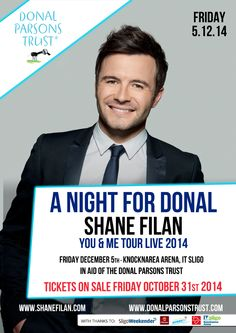 "SHANE FILAN IS ""DOING IT FOR DONAL""!  SHANE'S HOMECOMING GIG TO HELP LOCAL BOY WITH RARE CHILDREN'S CANCER  Knocknarea Area, Sligo – 5th December 2014"