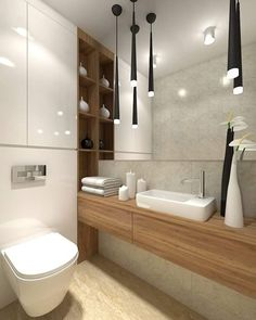 25 Contemporary Concept Bathroom Decorating Ideas & Furniture Designs Coming into 2019 - Part 2 - 1 Decorate Modern Bathroom Decor, Wood Bathroom, Bathroom Design Small, Bathroom Interior Design, Interior Design Living Room, Bathroom Furniture, Bad Inspiration, Bathroom Inspiration, Toilette Design