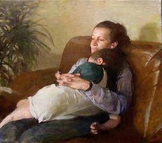 "Burton Silverman (born 1928) is an American painter ~ ""Mother Child"""
