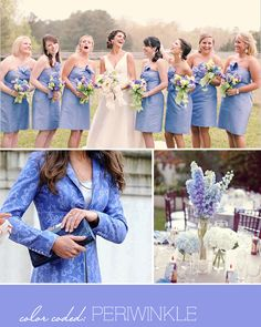 I love the delphiniums here. maybe it would be pretty to have the central reception display be a combination of delphiniums and sunflowers and then do what we talked about for the tables- delphinium tied in a circle with candles in the middle Periwinkle Wedding, Periwinkle Color, Blue Wedding, Summer Wedding, Wedding Colors, Dream Wedding, Color Blue, Purple, Wedding Rehearsal