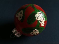 Glass Ornament  Christmas Design III by KatherineLorraineArt