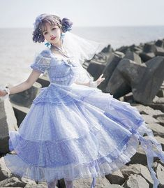 LolitaWardrobe online store is built to help Lolitas all over the world to purchase Lolita clothes from Taobao indie brands at limited budgets. Tokyo Fashion, Harajuku Fashion, Asian Fashion, Kawaii Dress, Kawaii Clothes, Pretty Outfits, Beautiful Outfits, Cute Outfits, Emo Outfits