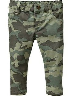 Skinny Pop-Color Pants for Baby - Camo! For a baby girl!