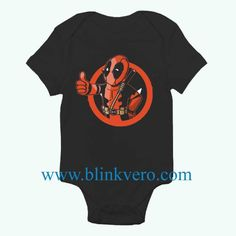 Deadpool Vault Boy Awesome Funny Baby Onesie Boy or Girl, Available Sizes Newborn to 24 Months