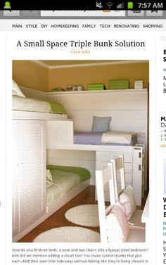 Triple bunk beds!